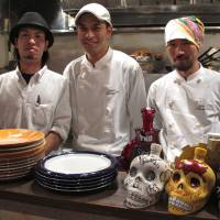 Three amigos: Abrazo a la Oaxaquena owner-chef Shintaro Kato (center) and his staff serve up authentic Mexican mole sauces. | ROBBIE SWINNERTON