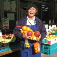 Fruit vendor Takahiko Takahashi