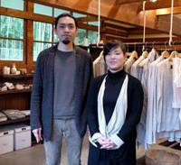 Style-setters: Kenichi Kishimoto and Noriko Yasuda, whose Native Works organic clothes shop majors in 'slow fashion'