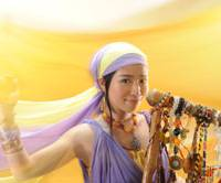 Reaching out: Eriko Mukoyama, whose stage name is Anyango, poses here with her nyatiti. On May 30, she releases her second album, titled 'Horizon.'   TAISIROU SATOU PHOTO
