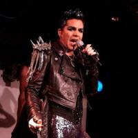Idol worship: Singer Adam Lambert performs songs from his album, 'For Your Entertainment,' at Club Eleven in Tokyo on Monday.