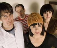 Breaking out: The Jicks (from left to right) Stephen Malkmus, Mike Clark, Janet Weiss, Joanna Bolme.