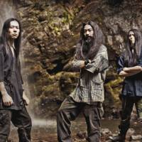 Bloody roots: Metal band Gotsu Totsu Kotsu (from left: Hirotaka Nakazawa, Haruhisa Takahata and Atsushi Takahashi) uses ancient Japanese lore as the basis for its songs in order to connect with local audiences.