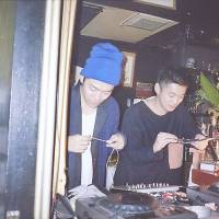 Spin central: PPTV (right) and Danny Haze perform at World Eclectic bar in Kanazawa's Katamachi district in December.