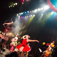 Sister act: With Momo Matsunaga on vocals and her sister, Koharu, on the accordion, a Charan Po Rantan show is a lot like watching a cross between the circus and musical theater. | EISUKE ASAOKA