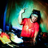 From Jakarta with love: Katsumi Takano, better known as DJ Jet Baron, spins a style of music called Funky Kota (or Funkot for short) at Tokyo's Acid Panda Cafe. The music originated in Indonesia and Takano has since put his own Japanese spin on the sound. | DAN SZPARA