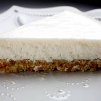 Light luxury: Coconut 'Cheesefake' is considerably lighter but no less delicious than its cheesecake inspiration. | THE WASHINGTON POST