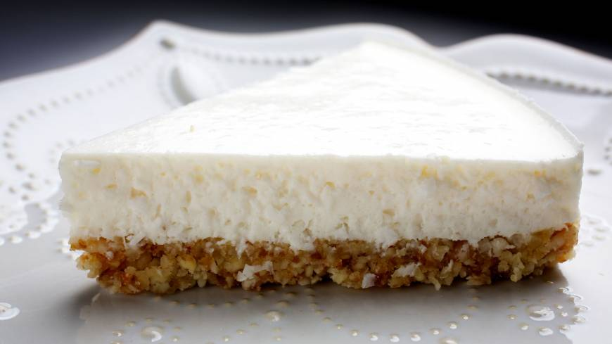 Light luxury: Coconut 'Cheesefake' is considerably lighter but no less delicious than its cheesecake inspiration.
