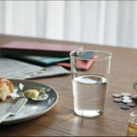 THE glass, available at THE Shop, Manabu Mizuno's select store in the Kitte building in the Marunouchi area of Tokyo.