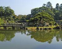 Genkyuen garden, which dates from 1677.
