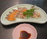 A challenging plate of funazushi.