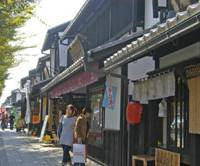 Retail retro: Yume-Kyobashi Castle Road has been restored to look like it did long ago.