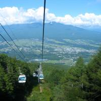 Riding high: Fujimi and the Yatsugatake range seen from the Mt. NYUKASA ROPEWAY. | WINIFRED BIRD