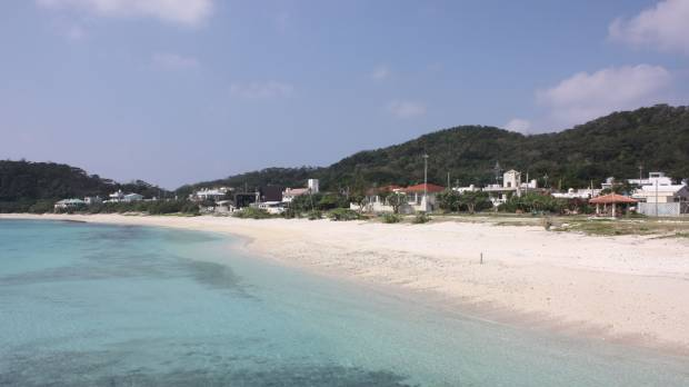 Sand, sea and stars on idyllic Akajima