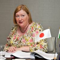 No nuclear fears: Welsh economy minister Edwina Hart is interviewed on Wednesday by The Japan Times in Tokyo. | YOSHIAKI MIURA