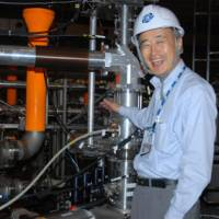 Personal tour: Hiroshi Yamada believes that if successful, the fusion process will be a lot safer than nuclear power. | STEPHEN CARR