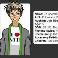 Alter ego?: Edward Snowden describes himself on what seems to be his profile page of Ryuhana Press, a now-defunct anime company based in the U.S. | RYUHANA PRESS WEBSITE