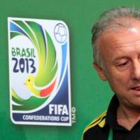 Inside knowledge: National team manager Alberto Zaccheroni arrives at a news conference in Recife, Brazil, on Tuesday ahead of Japan's Confederations Cup game against Italy. | AP