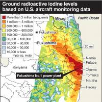 JAEA map shows early iodine fallout