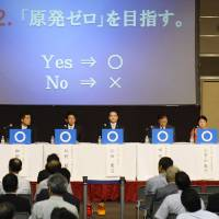 LDP alone in fighting nuclear power exit