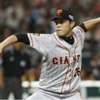 Utsumi dominates as Giants beat Hawks