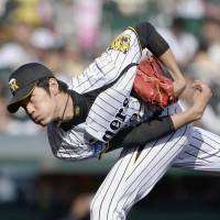 Fan favorite: Hanshin rookie Shintaro Fujinami came top in fan votes for Central League starters in next month's All-Star Series. | KYODO