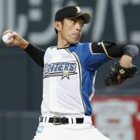 Pinpoint control: Fighters hurler Hiroshi Kisanuki earns a complete-game victory against the Lions on Saturday at Sapporo Dome. Kisanuki allowed four hits and struck out six without yielding a walk, and Hokkaido Nippon Ham beat Seibu 9-1. | KYODO