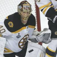Paille finds net in overtime as Bruins even Stanley Cup finals