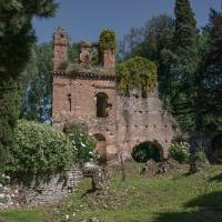 Ancient ruins: The botanical garden of Ninfa, near Cisterna di Latina outside Rome, is seen in May. | AFP-JIJI