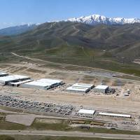 Power point: An aerial photo taken in April shows the Utah Data Center near Bluffdale, Utah, where a whistle-blower believes the U.S. government is secretly collecting telephone records of millions of U.S. customers of  Verizon under a top-secret court order. | AP