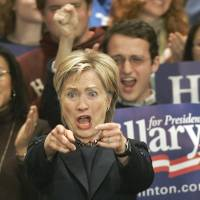 If at first you don't succeed: Then Democratic presidential hopeful Sen. Hillary Rodham Clinton gestures to students at Wellesley College in Massachusetts on Nov. 1, 2007. Clinton is widely expected to run for the White House again in 2016. | AP