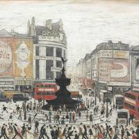 Art snobs ignored: While L.S. Lowry's reputation in the art world has sagged after his death in 1976, he remains one of Britain's most popular artists. His painting 'Piccadilly Circus, London' (1960) sold for nearly £5.7 million at Christie's in 2011. | BLOOMBERG
