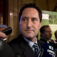 Looking to the future: Michael Applebaum speaks to reporters in Montreal last November after he was elected interim mayor. | AP