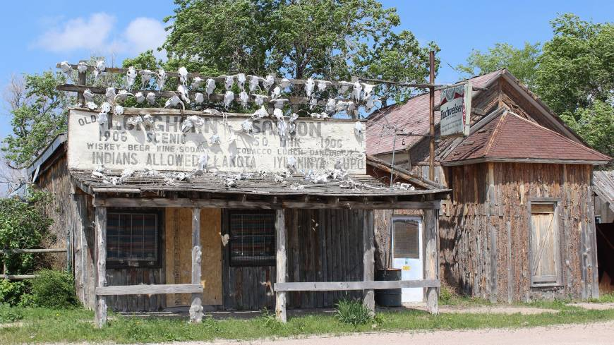 Bad scene: The town of Scenic in South Dakota was a vibrant railroad stop until the late 1980s, but has become a ghost town in recent years. Its predicament highlights the economic challenges residents in southwestern areas of the state face.