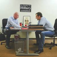 Setting the stage: Executive director Adam Parkhomenko (left) and communications director Seth Bringman are at the helm of the upstart super PAC called Ready for Hillary, which is fast emerging as the stand-in for potential candidate Hillary Rodham Clinton by scooping up advisers and donations more than three years in advance of the next U.S. presidential election. | THE WASHINGTON POST