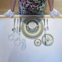 Class act: Institute Sarita founder Sarah Jane Ho teaches table manners during an etiquette class in Beijing. | AFP-JIJI