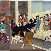 Plum parade: Yoshu Chikanobu's 'Excitement in the Main street of Shin-Yoshiwara' (1888) | OTA MEMORIAL MUSEUM OF ART