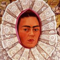 'Self-Portrait with Medallion,' by Frida Kahlo, 1948, private collection | © BANCO DE MEXICO,