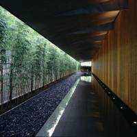 Urban oasis: After a 3 1/2-year renovation, the new Nezu Museum, now a minimalist space with glass walls, lines of bamboo thickets and pebble-lined paths, opened to the public on Oct. 10. | © FUJITSUKA MITSUMASA