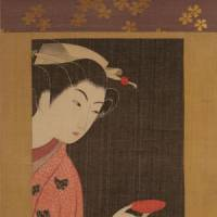 Beauty in detail: 'Woman with Sake Cup' (undated) by Komura Settai | COURTESY OF KIYOMIZU SANNENZAKA MUSEUM, KYOTO