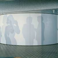 On screen: Jiro Takamatsu's 'Shadow' (1977) uses different light intensities to emphasize shadows of human figures. | THE NATIONAL MUSEUM OF ART, OSAKA © YASUKO TAKAMATSU, COURTESY OF YUMIKO CHIBA ASSOCIATES