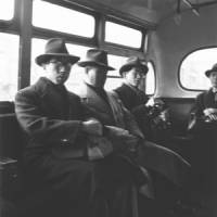 Documenting the past: Prince Mikasa of the Imperial family (younger brother of former Emperor Hirohito), commuting by bus to his university teaching job (circa 1950), taken by Tsuneko Sasamoto | COURTESY OF TSUNEKO SASAMOTO
