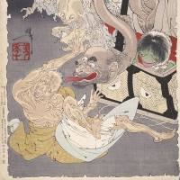 'Shinkei Sanju-roku kai sen, Omoi Tsuzura' by Tsukioka Yoshitoshi (1890) will be on display from July 6-Aug. 4. | NATIONAL MUSEUM OF JAPANESE HISTORY