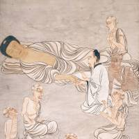 Nehan (Buddha Entering Nirvana)' (1804) by Tani Buncho. | NAGOYA CITY MUSEUM