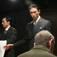 Mind your manners: In a key scene from 'Jiro Shirasu,' the title character (played by Yusuke Iseya) faults Douglas MacArthur, supreme commander of the Allied powers, for his ungrateful receipt of a gift from Emperor Hirohito.