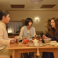 Family ties: NHK's morning drama 'Amachan' revolves around a teenage girl named Aki (Rena Nonen, center), who becomes an idol to help save the ama (female diver) culture in the hometown of her mother Haruko (Kyoko Koizumi, right). | NHK