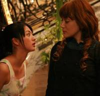 In full voice: Hikari Mitsushima (left) and Stephanie in 'Pride' © 2008 PRIDE SEISAKU IINKAI