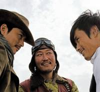 Spicy tearaways: Woo Sung Jung, Song Kang Ho and Lee Bying Hun in 'The Good, the Bad, the Weird' | © 2008 CJ ENTERTAINMENT INC. & BARUNSON CO., ALL RIGHTS RESERVED