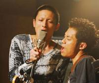 Rocks off: Kengo Kora (left) and Atushi Ito in the excellent 'Fish Story' — our critic's No. 1 Japanese film of 2009.