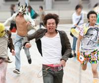 On the run: Keisuke Koide takes the lead as Takumi, the son of a former cop in 'Surely Someday.'   © 2010